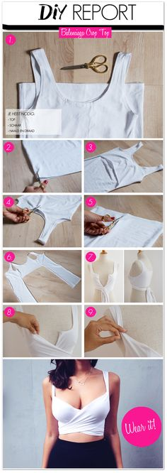 DIY Crop Top fashion diy craft crafts craft ideas diy ideas diy crafts diy clothes diy shirt craft clothes craft shirt fashion crafts teen crafts crafts for teens tops