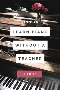 Going to lessons isn't right for everyone. so for those people there's another way. Discover what it takes to learn piano without a teacher. Teach Yourself Piano, Aquaponics Plants, Teacher Signs, Easy Piano, Sing To Me, How To Treat Acne, Piano Lessons, The Help, 3d Printing