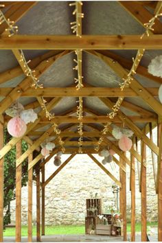 Fairy lights under the walkway at Notley Abbey