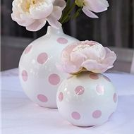 PARTY DECORATIONS: Pink Polka Dot Vase