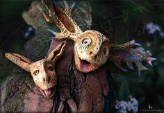 """Cheerful devil's friend"" - from series: ""daiMONIon"" - Wild Soul"" by Terra Indigena Studio"