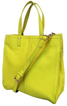 dd37b1f22b51 Violet Small Citrus Yellow Leather Tote. トリーバーチのバッグ ...