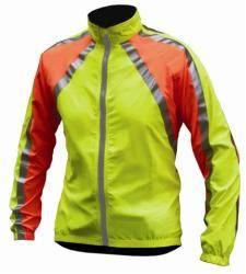 Polaris RBS reflective light weight windproof jacket YELLOWORANGE S-XL.  For cyclists. $45.