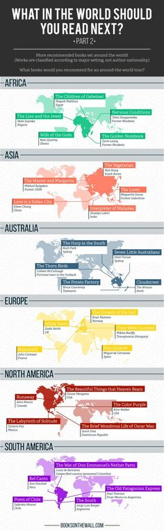 30 books set in different countries around the world #infographic