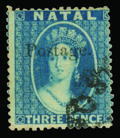 """Natal 1869 blue Q Victoria overprinted """"Postage. Cape Colony, Crown Colony, Union Of South Africa, Kwazulu Natal, British Colonial, Queen Victoria, Stamp Collecting, West Africa, Postage Stamps"""