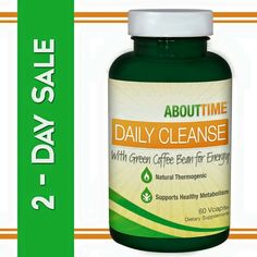 50% off our Daily Cleanse plus Energy when you use promocode CLEANSE50 -- About Time cleanse with green coffee bean is great for kick starting your sculpting and toning regimen. Our cleanse is a thermogenic and supports healthy metabolism - See more at: http://tryabouttime.com/shop/cleanse/#sthash.6XwBwFX1.dpuf