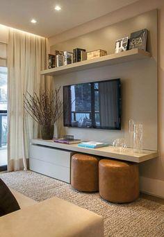 Já falamos muito aqui sobre ambientes pequenos mas hoje a dica é como mobiliar um pequeno apartamento pois existem certos truques que fazem toda a diferença!