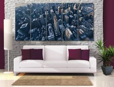 City High Quality Photo Canvas Print  New York от GiftVilage