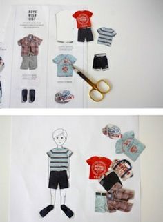 make paper dolls from old catalogs