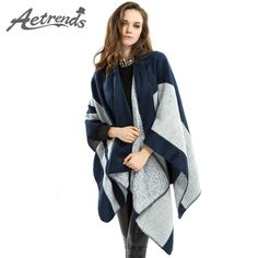 Women Cashmere Ponchos and Capes Women's Winter Shawls
