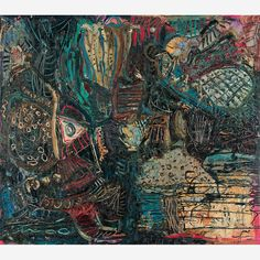 Adriana Varejão O Dilúvio Óleo sobre tela 1985 - Bolsa de Arte Rio de Janeiro