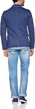 TOM TAILOR Denim Herren Sakko 39002250112/sweat blazer, Gr. 46 (S), Blau (6576 night sky blue): Amazon.de: Bekleidung