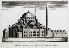 The mosque of Mehmed II (Fatih mosque), Istanbul. - COMIDAS, Cosimo - GEZGİNLERİN BAKIŞI - Yerler - Anıtlar – İnsanlar Güneydoğu Avrupa - Doğu Akdeniz Yunanistan - Anadolu - Güney İtalya - 15. yüzyıl - 20. yüzyıl