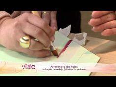Vida Melhor - Artesanato: Técnica de pintura - Imitação de azulejo (Adri...