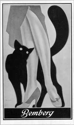 Black Cat Lithograph