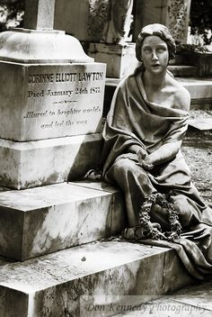 Image detail for -Sculpture marking the grave of Corrine Lawton in Bonaventure Cemetery ...