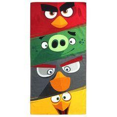 Rovio Angry Birds Rage Time Printed Beach Towel, Multicolor