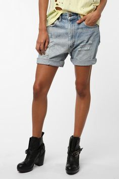 Urban Renewal Boyfriend Denim Short; trust me when I say I like shorts and the are just the right kind for me-NOT TOO SHORT! (I don't like showing off my behind....) Plus these would be great for school!!