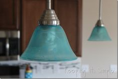 turquoise pendants light how to dye light shades, home improvement, how to, lighting, painting Blue Pendant Light, Turquoise Pendant, Ruby Pendant, Lamp Shades, Light Shades, Paint Shades, Old Lamps, Royal Design, Coastal Decor