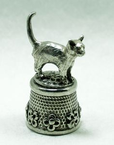 Pussy Cat collectible pewter thimble | eBay