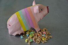 Striped Washi Tape Pig
