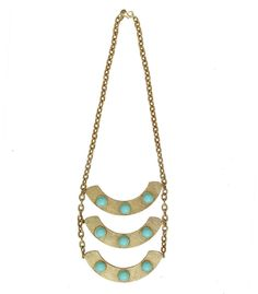 Breastplate Necklace (Pool Blue) from Candy Shop Vintage