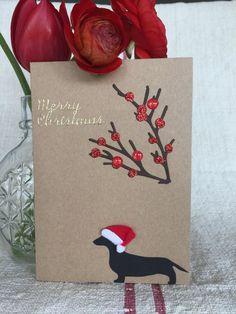 Dachshund Christmas Card 3 pack with di RedBarnAustralia su Etsy