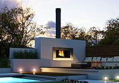 The external fireplace