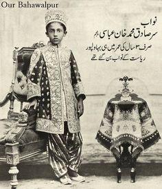 sadiq mohd khan abbasi at the age of 3 yrs was the nawab of the bahawalpur state