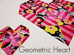 Zapatito Cochinito : Corazón Geométrico , Geometric Heart .