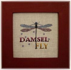 Cross Stitch Instant Download Pattern Damselfly