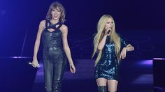 """August 30, 2015   Taylor Swift's latest on-stage pal was Avril Lavigne, and not only did they squash all those rumours about a Twitter feud but their duo of """"Complicated"""" proved there's nothing complicated about their respect for one another."""
