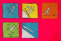 Keith Haring aux jeux olympiques Keith Haring, Theme Sport, Ecole Art, 3 Arts, Art Plastique, Famous Artists, Olympics, Skiing, Arts And Crafts