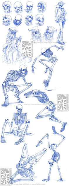 WARNING: OLD ART!! The art and comments in this Deviation may no longer represent the artist's current views or interests. Homework for LASALLE College of the Arts: more skeleton anatomy and expres...