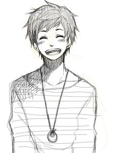 smile - anime boy