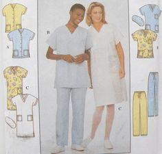 Medical Workers Uniform Scrubs Pattern Top Pants by WildPlumTree, $5.00