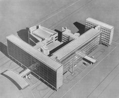 Ле Корбюзье / Le Corbusier. Дом Центросоюза (Наркомлегпрома) в Москве. 1928-1936. Макет