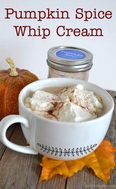 Pumpkin Spice Whip Cream-Pair with a Pumpkin Spice Latte