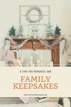 Family Keepsakes at Christmas - American Farmhouse Lifestyle Family Christmas Ornaments, Christmas Books, Country Christmas, Christmas Decorations, Holiday Decor, Mantle Ideas, Vintage Cookies, Vintage Ornaments, Sweet Memories