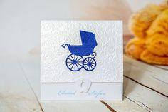 INVITATII HANDMADE by Mariana Gal: Invitatii botez alb/albastru