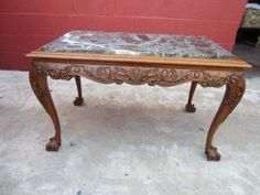 marble top coffee table antique