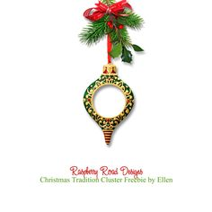 A beautiful cluster freebie from the Christmas Tradition collection at Raspberry Road Designs.