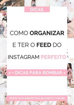 Sabe quando entramos em um instagram e nos apaixonamos pelo feed e ficamos sempre querendo saber como elas conseguem manter tao organizado e chamativo? Se você também não sabe como, vem que eu te mostro!