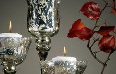 Give plain glass a mottled mercury finish