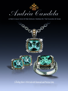"""""""Alhambra"""" Collection in Blue Topaz"""