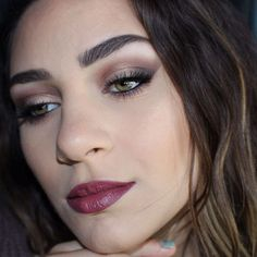 Posted a sped up tutorial of this makeup look using the @tartecosmetics limited edition Tarteist Pro eyeshadow palette! Also wearing @maybelline Fot Me Matte Poreless foundation @palladiobeauty Velvet Matte lip cream in Boucle @kissproducts lashes in the style Shy. Full makeup deets on my blog www.marinaleebeauty.com #makeup #smokeyeye #tarte #tarteistpropalette #rethinknatural #beauty #marinaleebeauty #maybelline #palladio #liquidlipstick