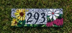 Stained glass mosaic house numbers / Custom flower mosaic house numbers / Wildflower number sign / wedding gift / housewarming / OOAK gift Balcony – home accessories Handmade Gifts For Her, Handmade Shop, Mosaic Glass, Stained Glass, Personalized Housewarming Gifts, Three Little Birds, Mosaic Flowers, Dog Blanket, Cross Stitch Cards