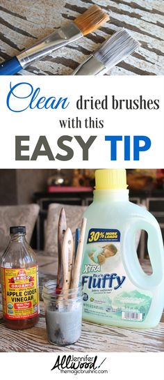 Pin it: clean paint brushes tip
