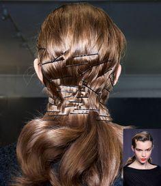 Look now: Pinned hairstyles