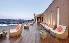 Outdoor Terrace at the Banyan Tree Al Wadi - Ras al-Khaimah - UAE Hotels And Resorts, Best Hotels, Desert Resort, Ras Al Khaimah, The Perfect Getaway, Beautiful Hotels, United Arab Emirates, London Travel, Hotel Reviews